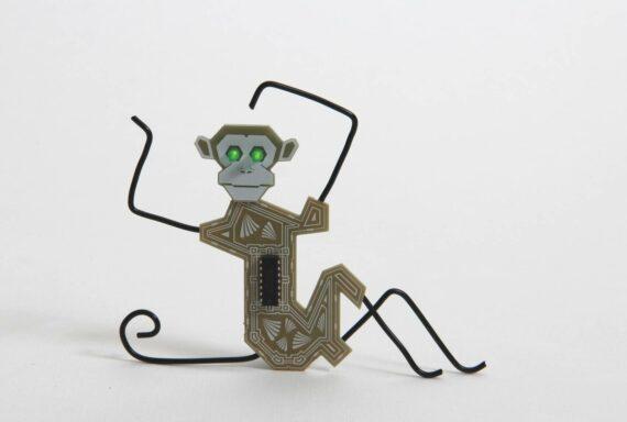 battery eater monkey sitting
